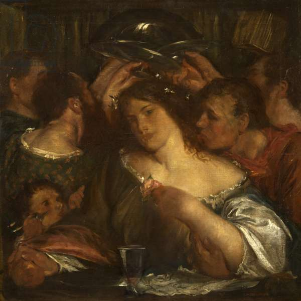 Tibullus in the House of Delia, c.1900 (oil on canvas)