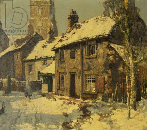 Village Street, Winter, 1926 (oil on canvas)