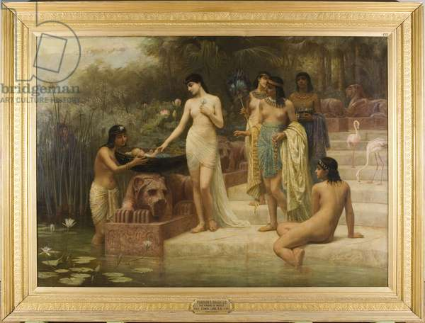 Pharaoh's Daughter - The Finding of Moses, 1886 (oil on canvas)