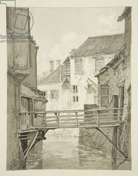 Back of Merchant Taylors' Almshouses from Castle Mill, 1820 (pencil & w/c on paper)