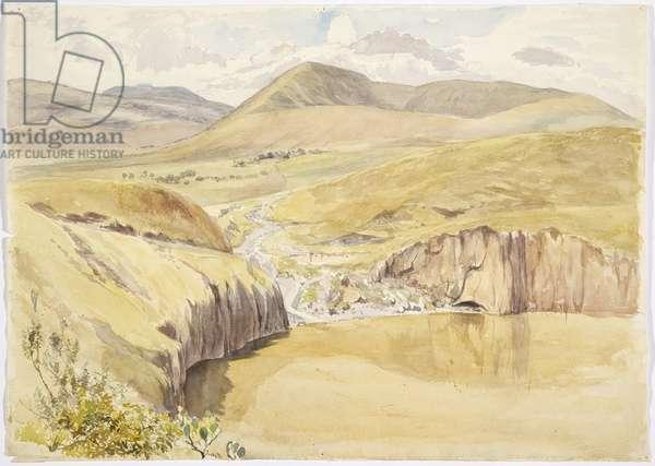 The Alberea, near Santiago del Valle, Guanajuato, Mexico (w/c)