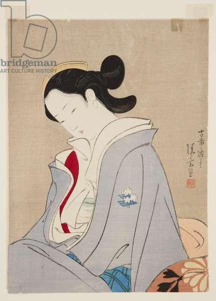 Kyara Incense (colour woodblock print)