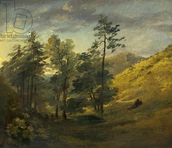View near Keswick; Evening, 1806 (oil on canvas)