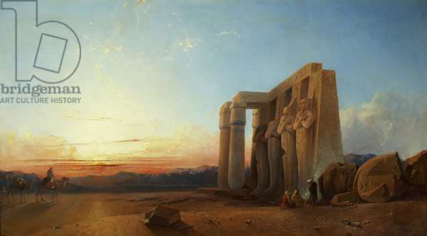 The Ramesseum at Thebes, Sunset, 1840