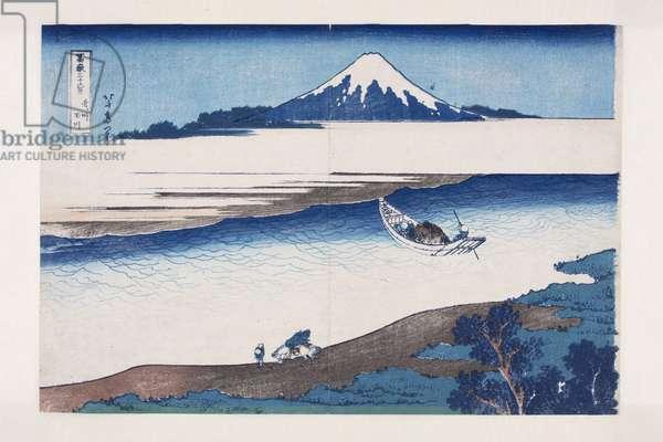 The Jewel River In Musashi Province (Bushu Tamagawa) (colour woodblock print)