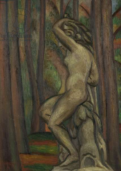 Statue in a Park, 1931 (oil on canvas)