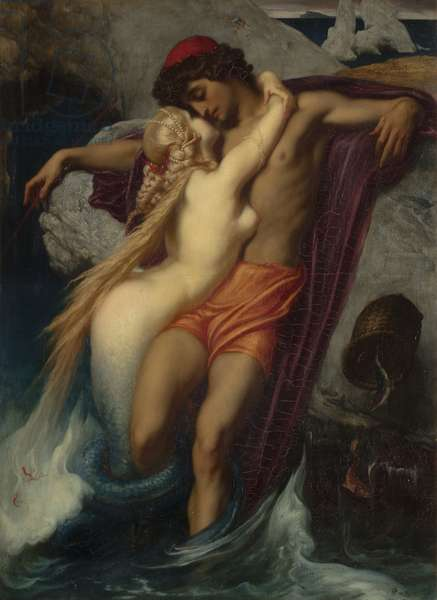 The Fisherman and the Syren: From a Ballad by Goethe, 1857 (oil on canvas)