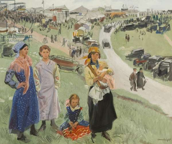 Epsom Downs, c.1938 (oil on canvas)