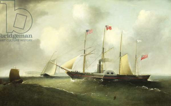 The 'Great Western' off Portishead, 1838 (oil on canvas)