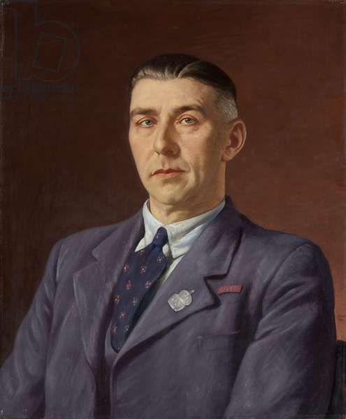 Portrait of Percival Henry Martin, Post Office, Bristol, c.1941-45 (oil on canvas)