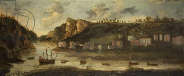 The Hot Wells, Bristol, c.1800 (oil on canvas)
