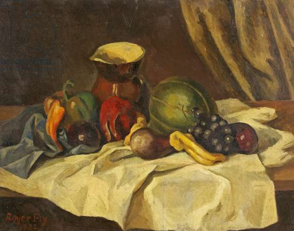 Still Life - Fruit with Jug, 1922 (oil on canvas)