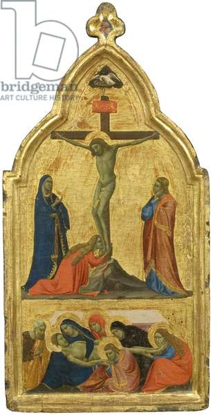 The Crucifixion and the Lamentation (tempera on gilded panel)