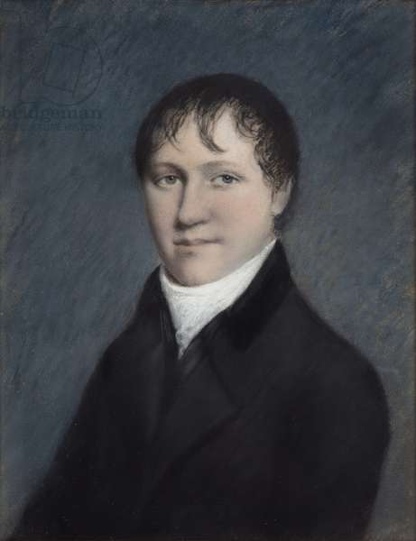 Sir Humphry Davy Bart, probably 1804-09 (pastel on grey paper)