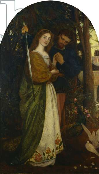 The Guarded Bower, 1866 (oil on canvas)