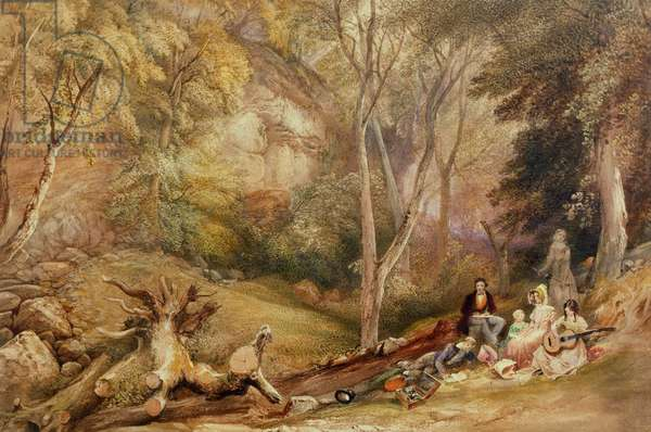 A Sketching Party in Leigh Woods, c. 1830