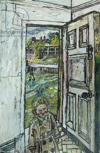 David in the Doorway, 1959-60 (oil on hardboard)