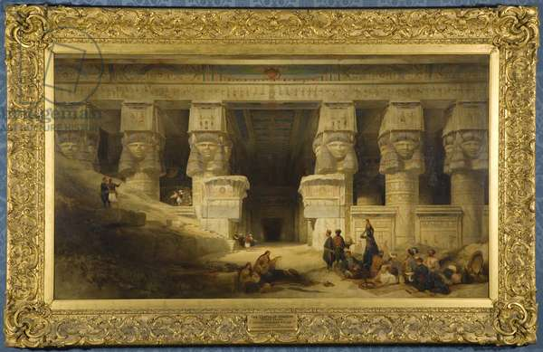 The Temple of Dendera, Upper Egypt, 1841 (oil on canvas)