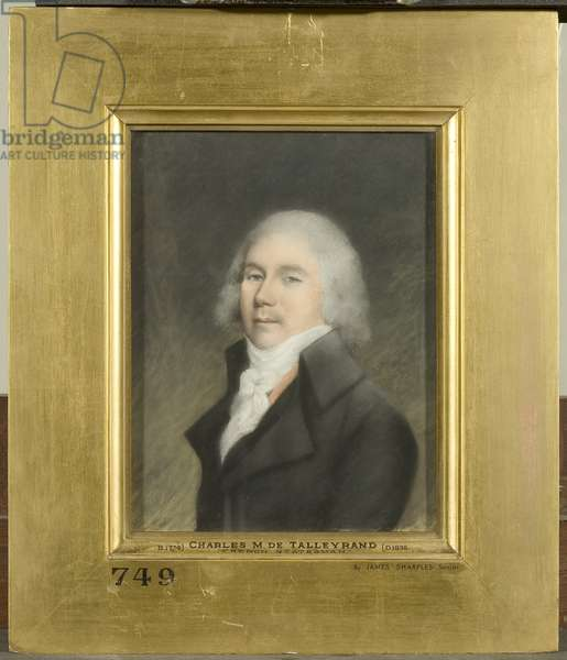Charles Maurice de Talleyrand-Perigord (pastel on paper)