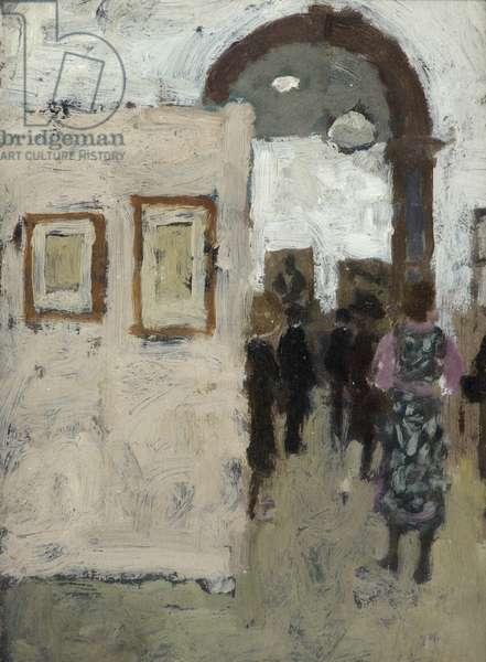 Opening of Vienna Secession Exhibition at the Royal Academy, 1971 (oil on hardboard)