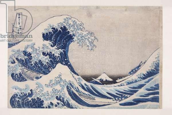 The Hollow of the Deep Sea Wave off Kanagawa (Kanagawa-oki nami ura) (colour woodblock print)