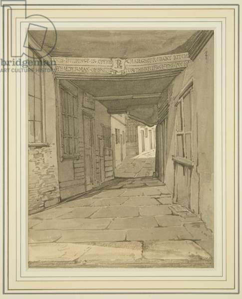 Newmarket Passage, off Broad Street (w/c on paper)