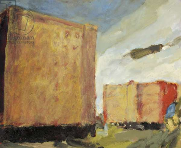 Bond Warehouses III, 1986-87 (oil on canvas)