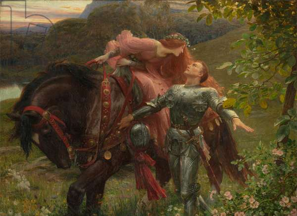 La Belle Dame Sans Merci, exh.1902 (oil on canvas)