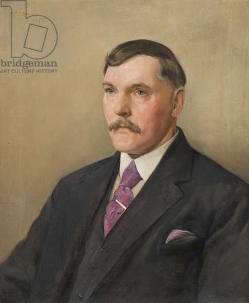Portrait of Mr A.W.J. Holman, long-serving employee of the Wills company, 1928 (oil on canvas)