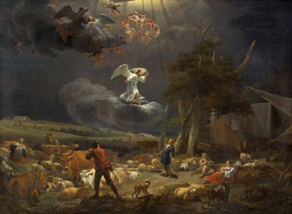 The Annunciation to the Shepherds, 1656 (oil on canvas) (for details see 77436 & 77437)