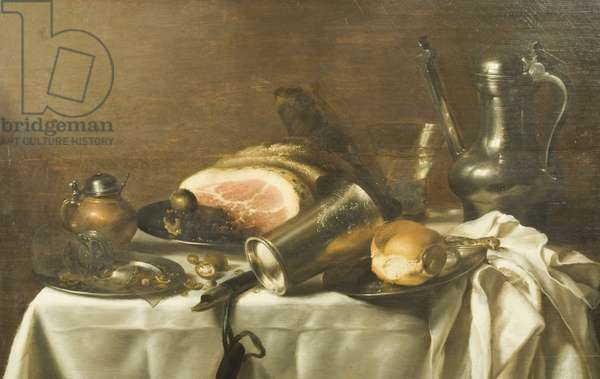Still Life with a Ham (oil on canvas)