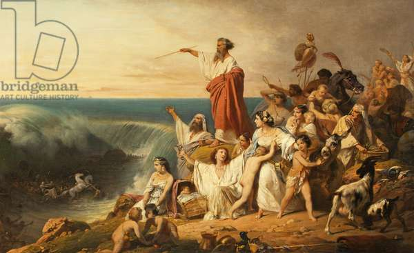 The Children of Israel Crossing the Red Sea, c.1855 (oil on canvas)