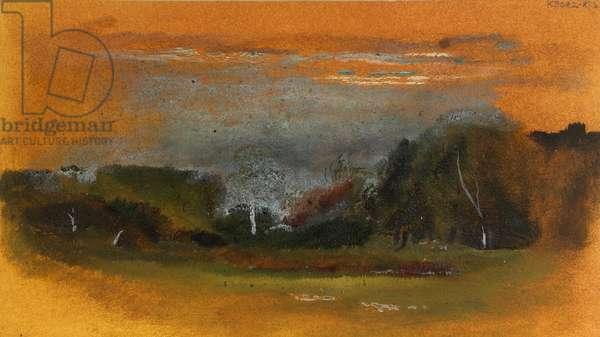 A Landscape View (oil on card)