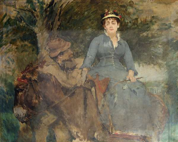 The Donkey Ride, 1880 (oil on canvas)