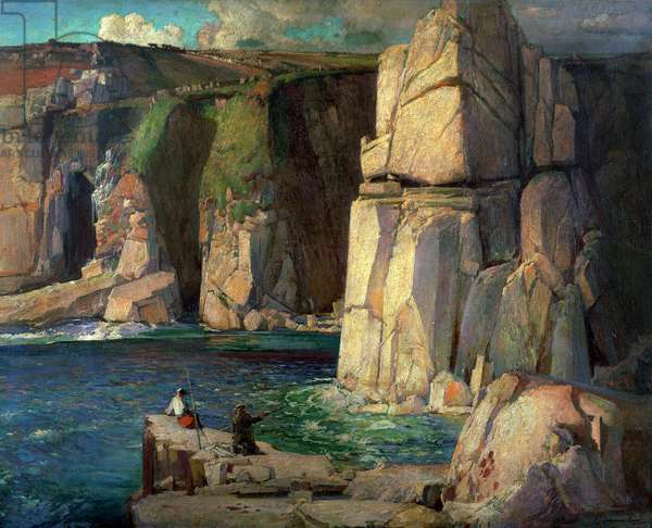 Tregiffian Cliff near Lamorna (oil on canvas)