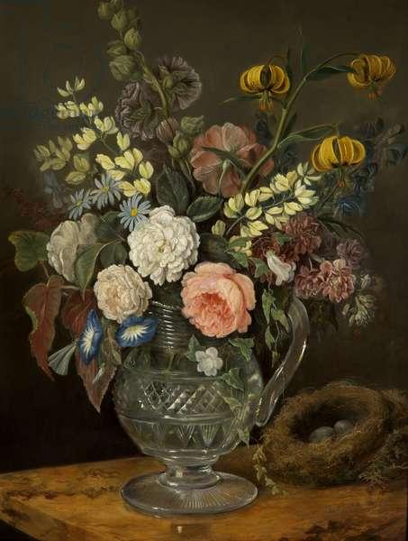 Study of Flowers (oil on panel)