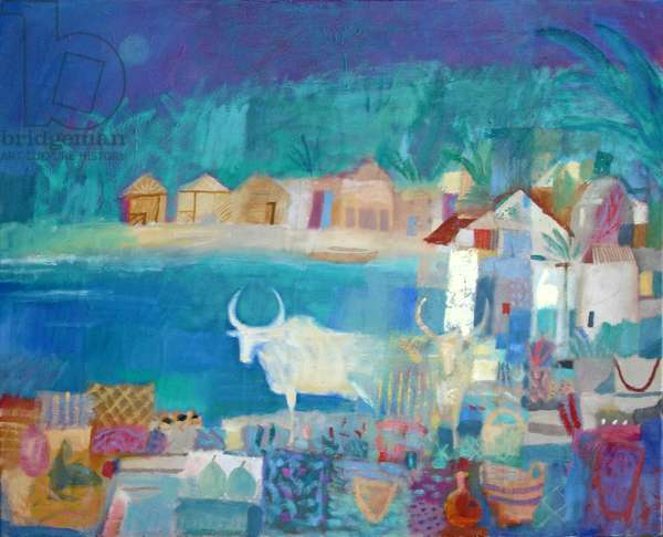 Market Cow, 2010 (oil on canvas)