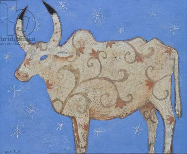 Celestial Cow, 2008 (oil on board)