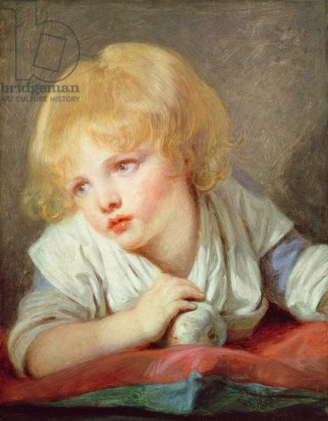 Child with an Apple, late 18th century (oil on canvas)