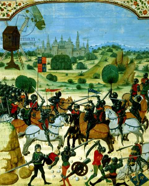 Fr 87 f.117 Battle of Crecy, 26 August, 1346