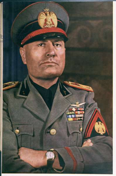 Il Duce, Benito Mussolini (1883-1945), from 'Signal' Magazine, Number 17, December 1940 (litho)