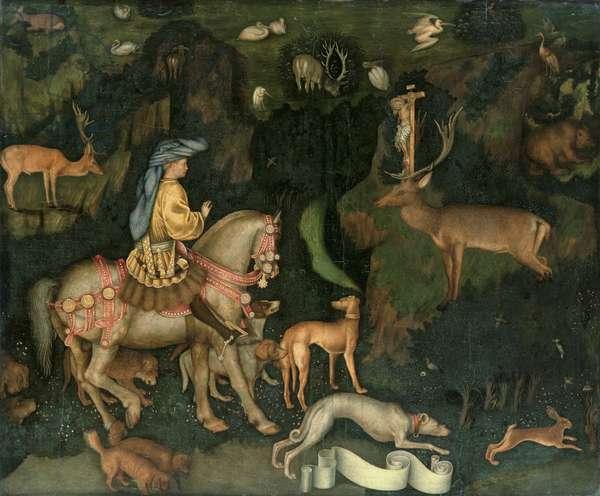 The Vision of St. Eustachius, c.1438-42 (egg tempera on wood)