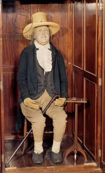 Embalmed body of Jeremy Bentham as Exhibited at University College