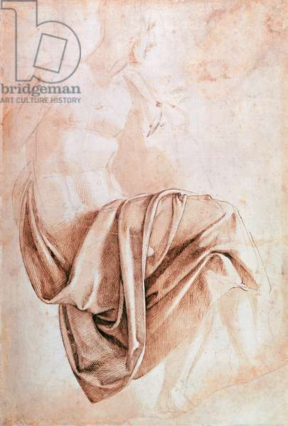 Inv. 1887-5-2-118 Recto (W.10) Study of drapery (drawing)