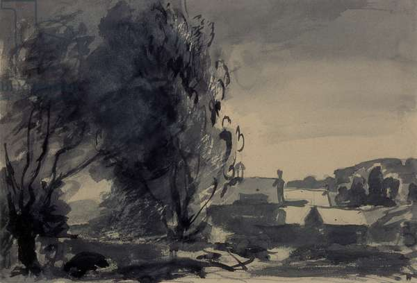 Houses Among the Trees, 1902 (w/c on paper)