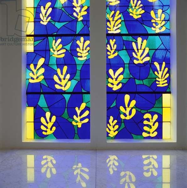 'Tree of Life' Stained glass behind the Altar in the Chapel of the Rosary at Vence, 1948-51 (stained glass)