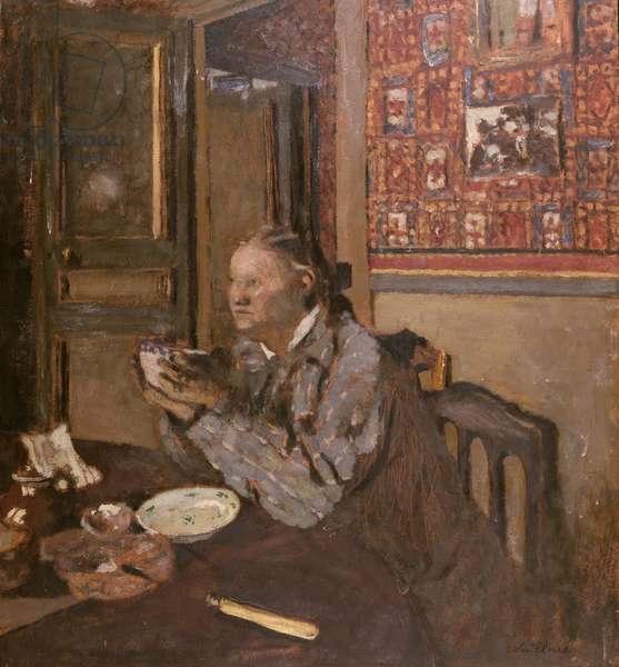 Madame Vuillard with a bowl, 1898 (oil on canvas)