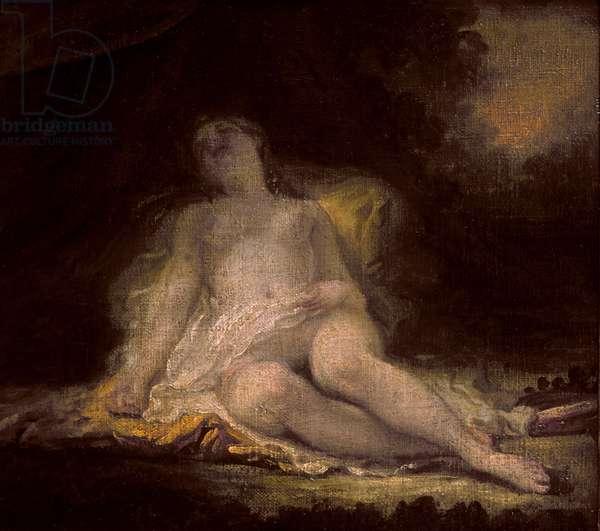 Sleeping Bacchante (oil on canvas)