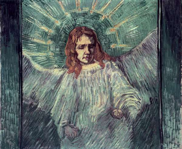 Head of an Angel, after Rembrandt, 1889 (oil on canvas)