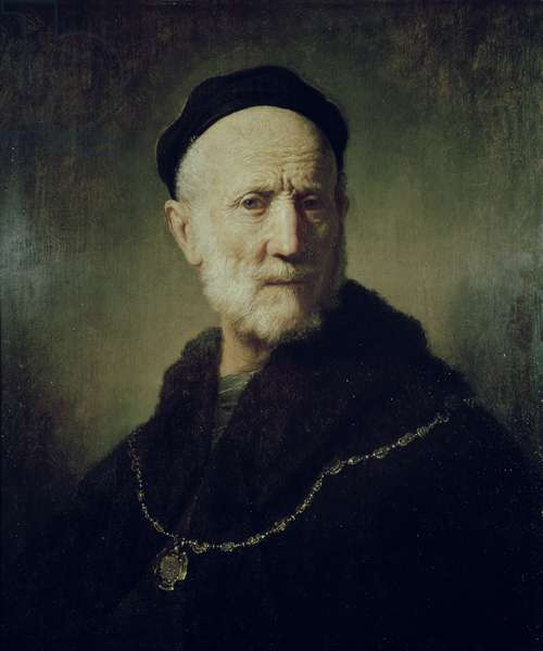 Bust of an Old Man, 1631 (oil on panel)